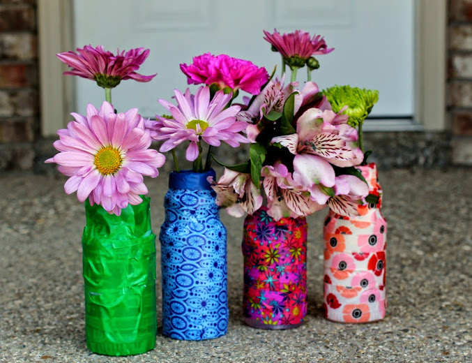 Easy Kids Washi Tape Crafts: Washi Tape Vases