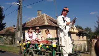 Szüreti felvonulás Jákó 2015 - Kisbíró beszéde