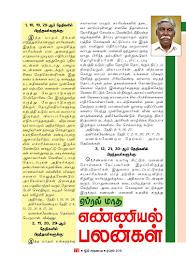 Maatha Rasi Palan and Numerology Forecast for April, 2016