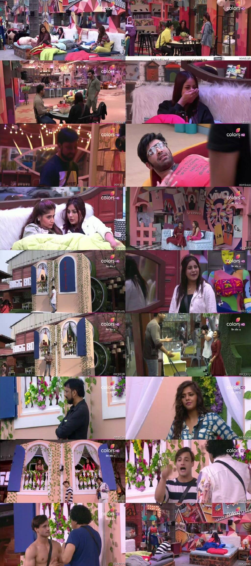 Screenshots Of Hindi Show Bigg Boss 13 7th October 2019 Episode 08 300MB 480P HD
