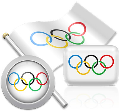 Olympic flag icons pictures collection