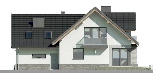 Dom przy Cyprysowej 15 K5 - Elewacja tylna