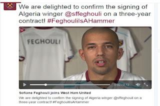 il rejoint Mahrez en Premier League Feghouli signe à West Ham pour trois saisons