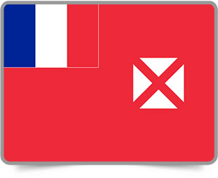 Wallis and Futuna framed flag icons with box shadow