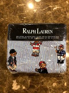 Ralph Lauren NEW Polo Bear Deep-Pocket Full Fitted Sheet