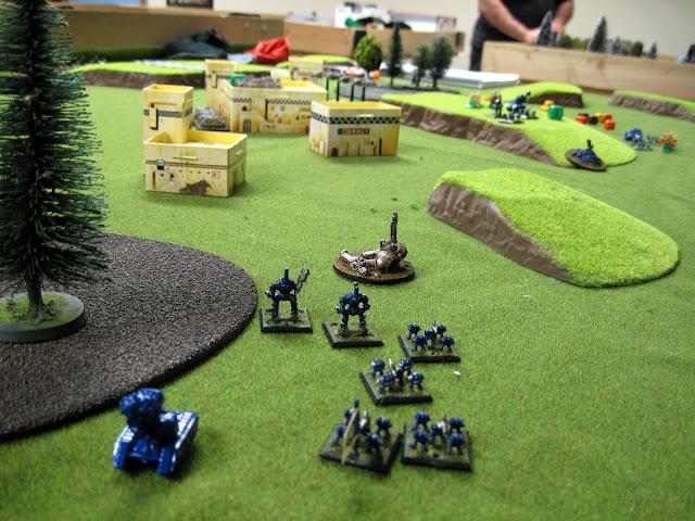 Ed's marines take on Brad's Iron Warriors.