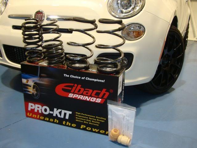 Fiat 500//500C//500T//Abarth Eibach Sportline Springs for 2012
