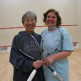 Mary Ni, Consolation Finalist, and Lisa Putukian, Consolation Winner, of the Women's C flight.