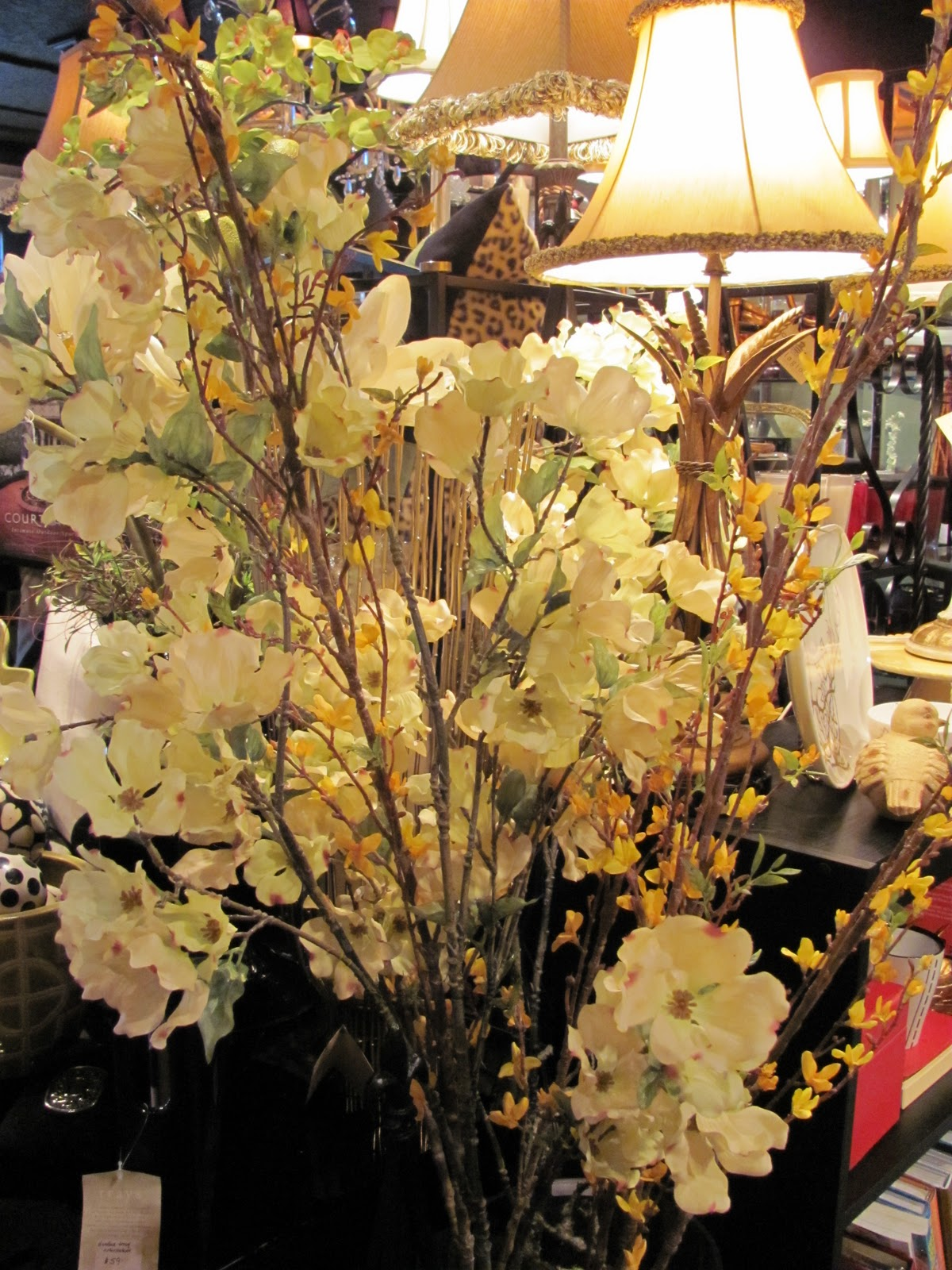 The gilded panther decorating with artificial flowers artificial dogwood and forsythia mightylinksfo