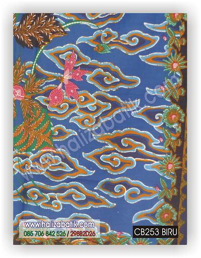 Batik Modern Wanita, Gambar Baju Batik, Baju Batik Terbaru, CB253 BIRU