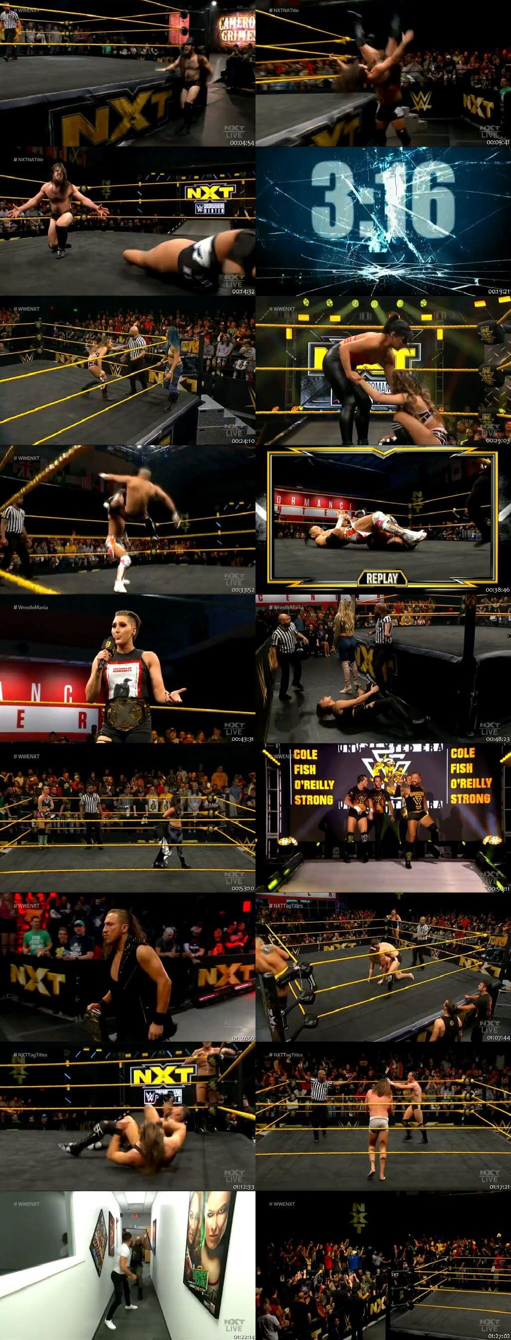 Screen Shot Of WWE NXT 11th March 2020 HDTV 480P 300MB
