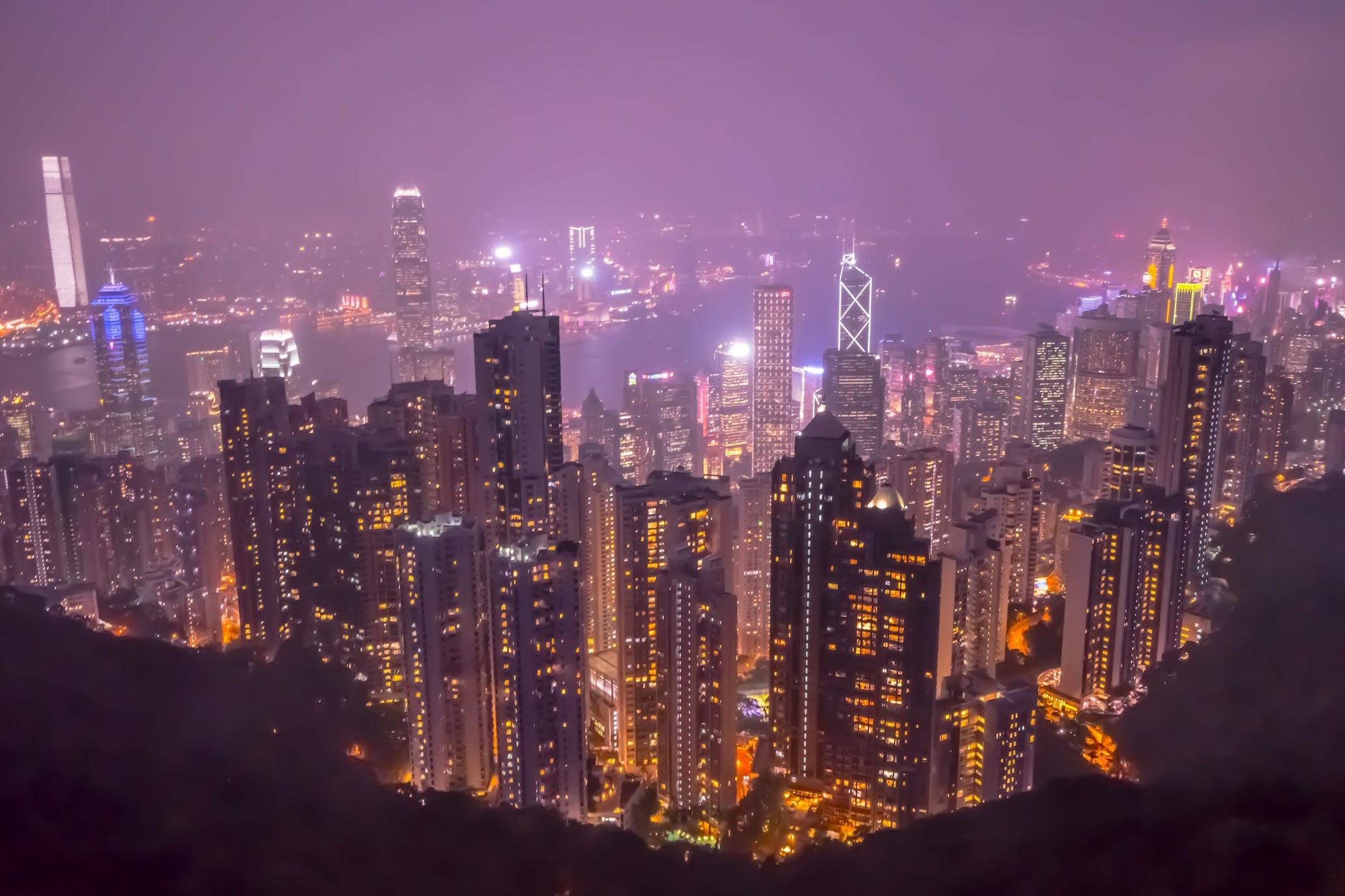 香港 ピーク・タワー 夕景