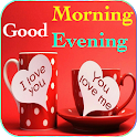 Good Morning Evening wishes images Gif icon