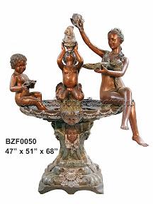 Bronze, Cherub, Fountain, Statue, Woman