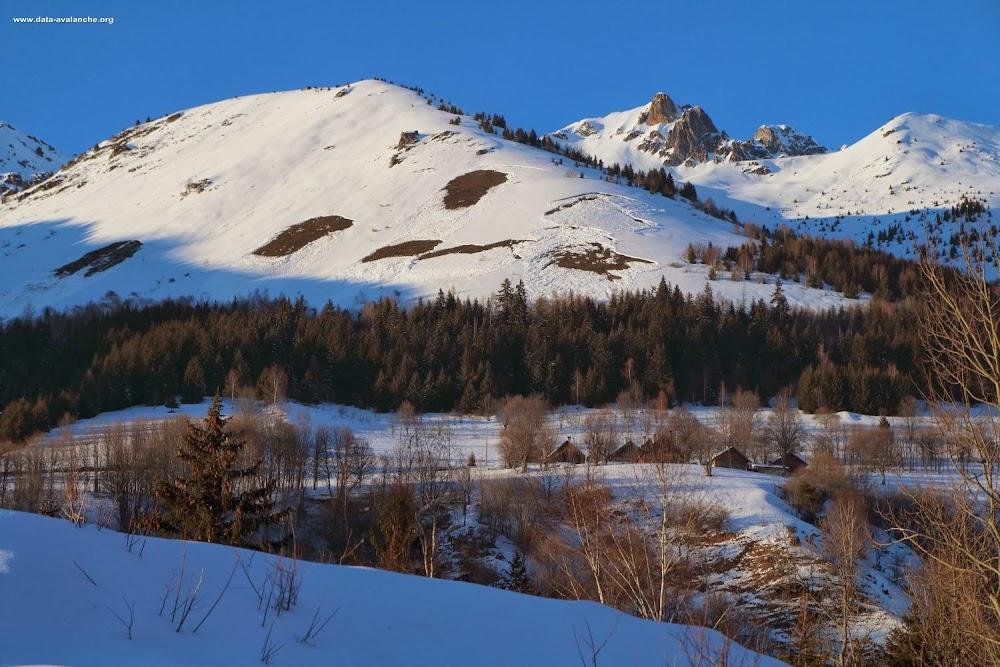 Avalanche Lauzière, secteur Montgellafrey, Le Replat - Photo 1