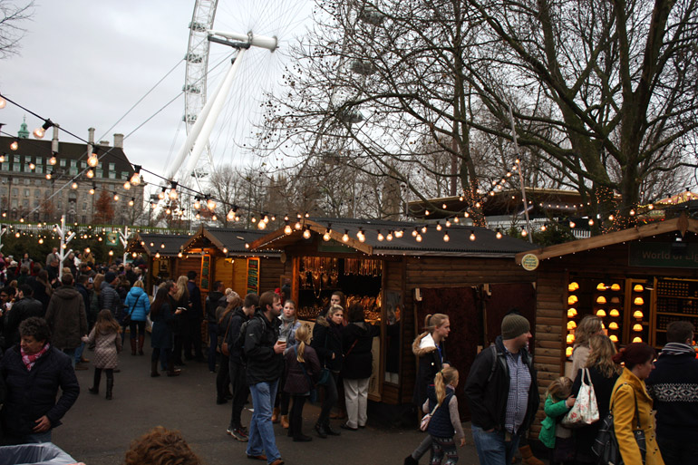 christmas market southbank centre london