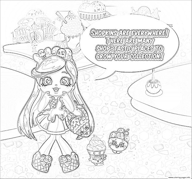Shopkins Everywhere Sketch Colouring Print Shopkins Everywhere Sketch Coloring  Pages