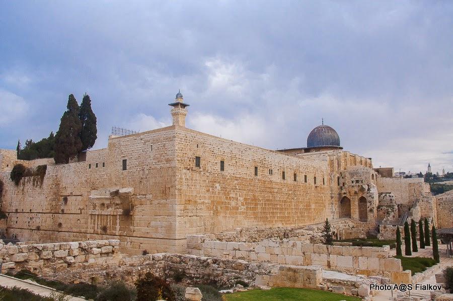 Храмовая гора Иерусалима и археологический парк Дэвидсона.