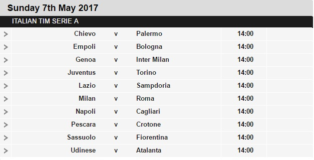 Serie%2BA%2Bschedule%2B35 Planning a Football Trip to Italy - SERIE A FIXTURES 2016/17