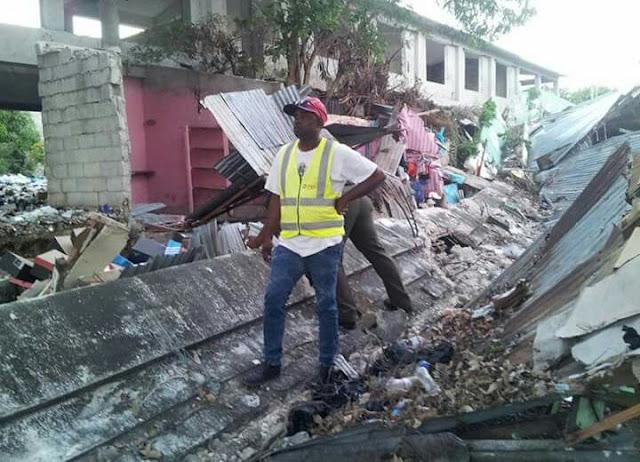 Colapso de pared pudo a ver dejado más 18 víctimas según Comerciantes Mercado Publico.-