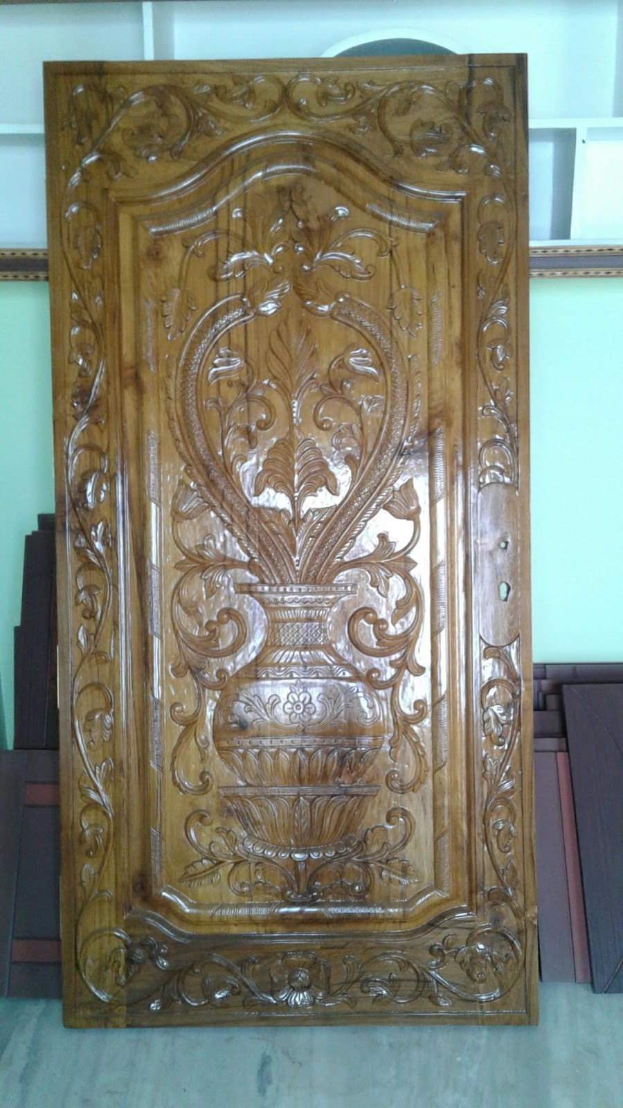 Wood Carving Single Door