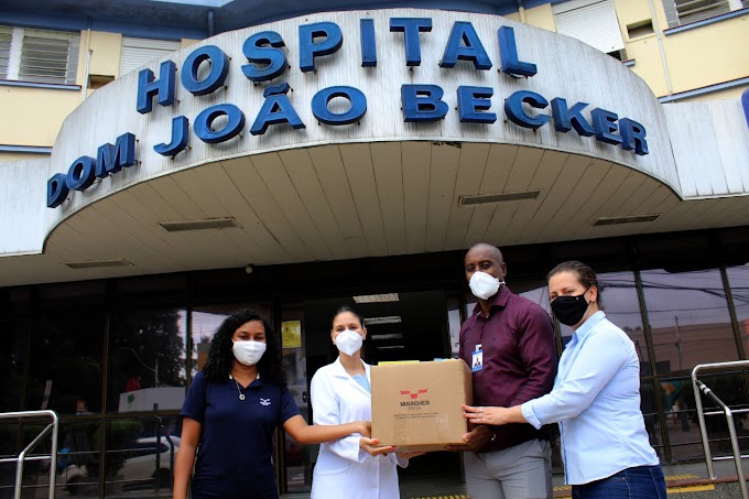 Hospital Dom João Becker recebe kits de higiene para pacientes