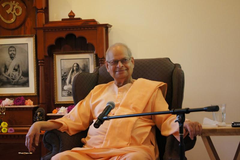 While Pankaj spoke, Swami Swahanandaji smiled to hear his dear friend's old stories