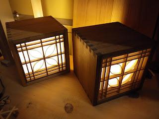 組子細工 キューブ行燈 オーダーのみの受付です