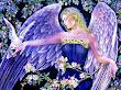 Angel Between Flowers