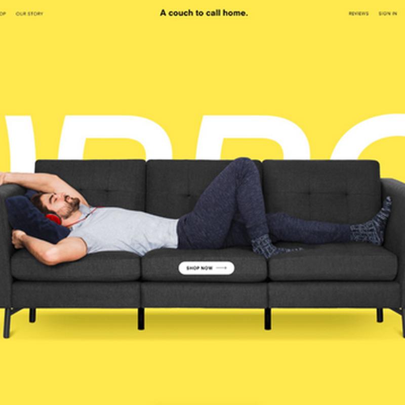 Sitios web con diseño de un solo color ultra brillante