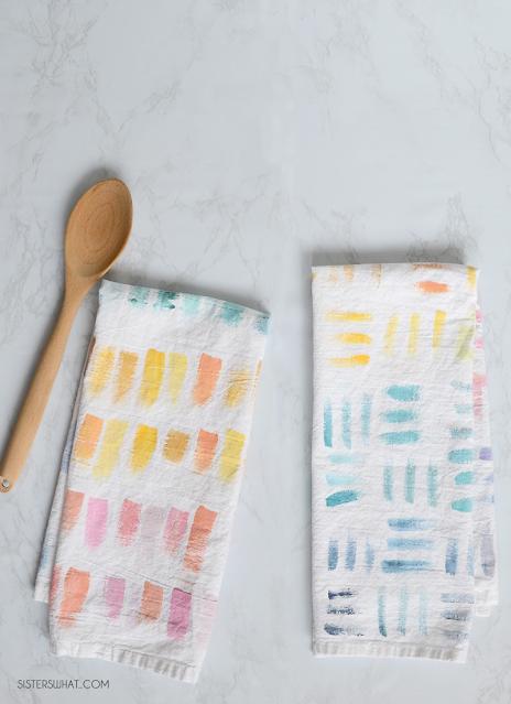 painted tea towels