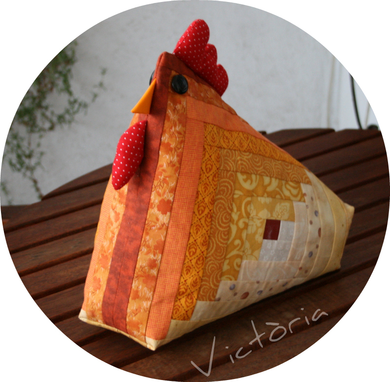 Gallina patchwork log cabin imagui - Gallinas en patchwork ...