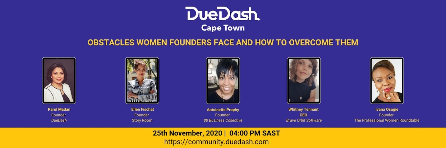 DueDash Cape Town: Obstacles Women Founders Face and how to Overcome Them
