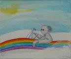 183 - Schoumi - 2007 100 x 73 - Sable et aquarelle sur toile