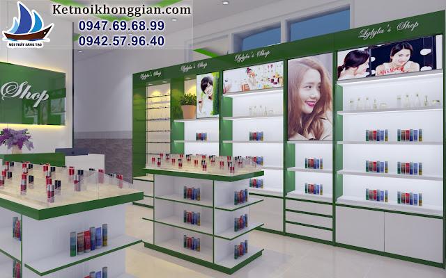 thiết kế cửa hàng mỹ phẩm 35m2