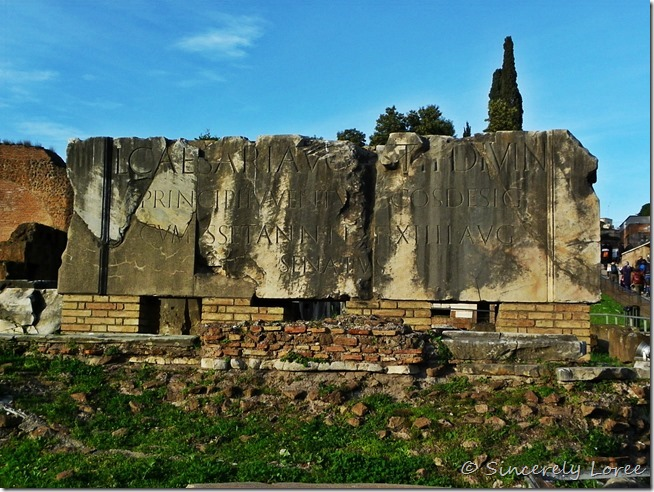 Ancient ruins, Roman Forum, Rom