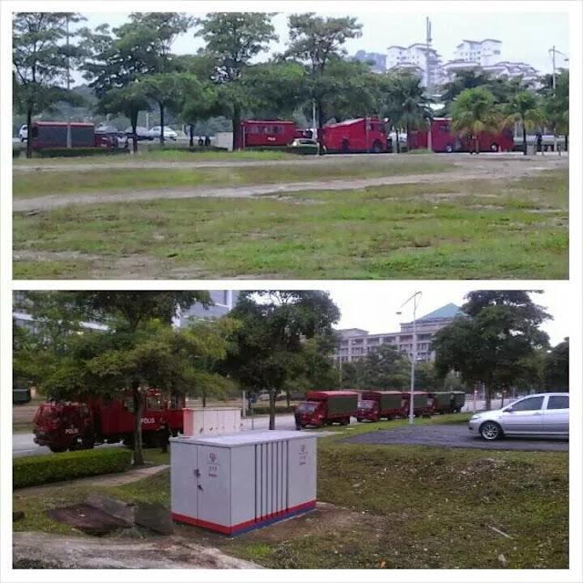 Trak FRU Sudah Memenuhi Sekitar Istana Kehakiman Putrajaya