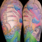 Mermaid arm - tattoos for men