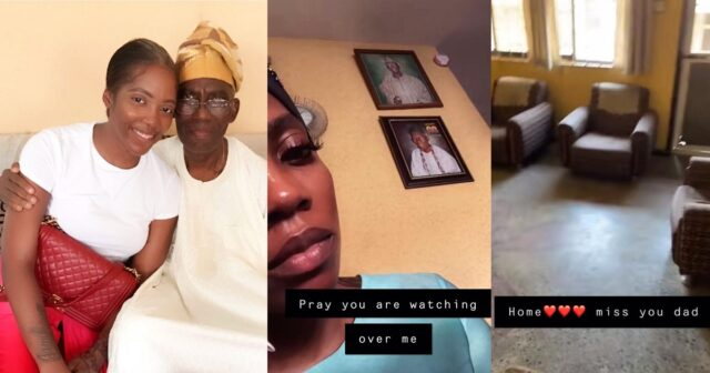 """""""You can not renovate your father's house with all the money you have"""" – Fans blast Tiwa Savage after she shared a video of her late father's house [Video]"""