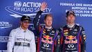 Lewis Hamilton, Sebastian Vettel & Mark Webber