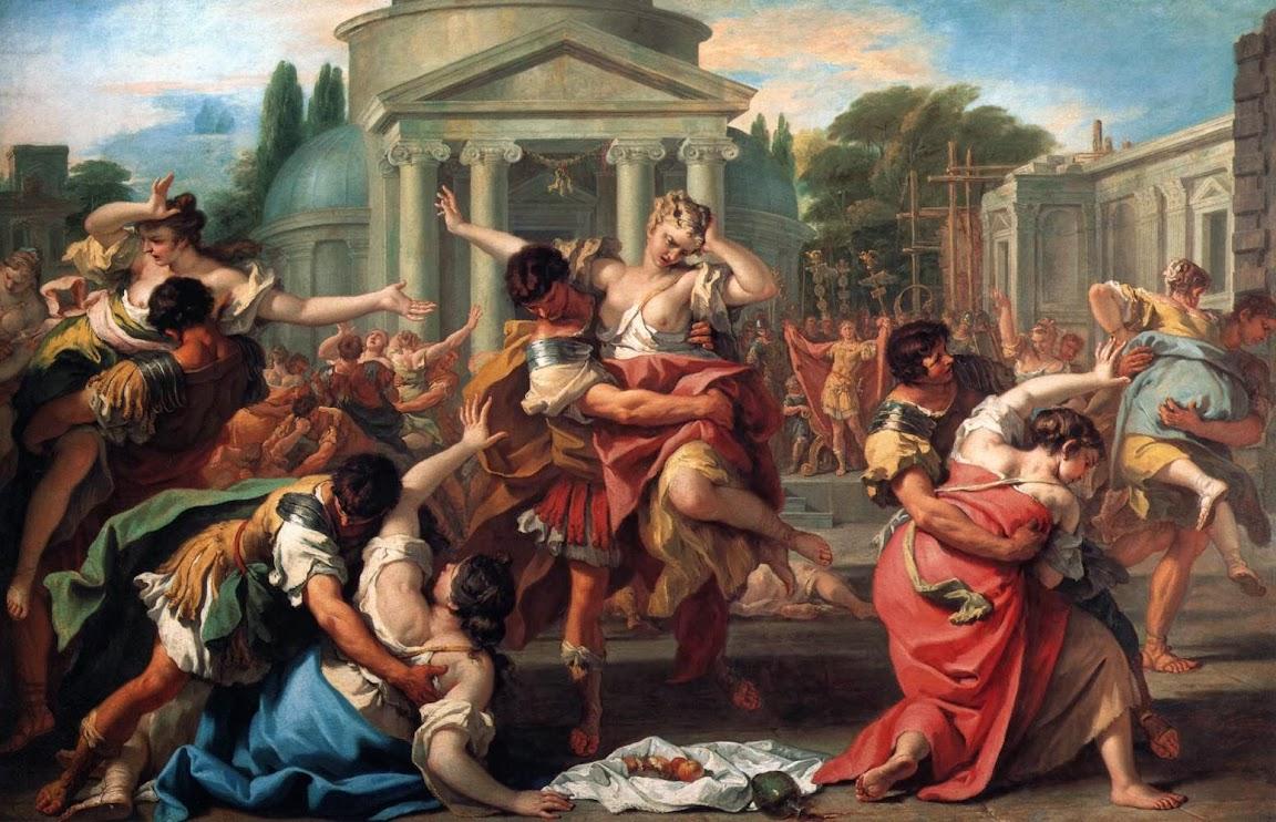 Sebastiano Ricci - The Rape of the Sabine Women