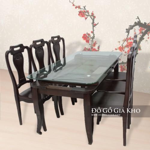 5Bộ bàn ăn gỗ mun - BA034