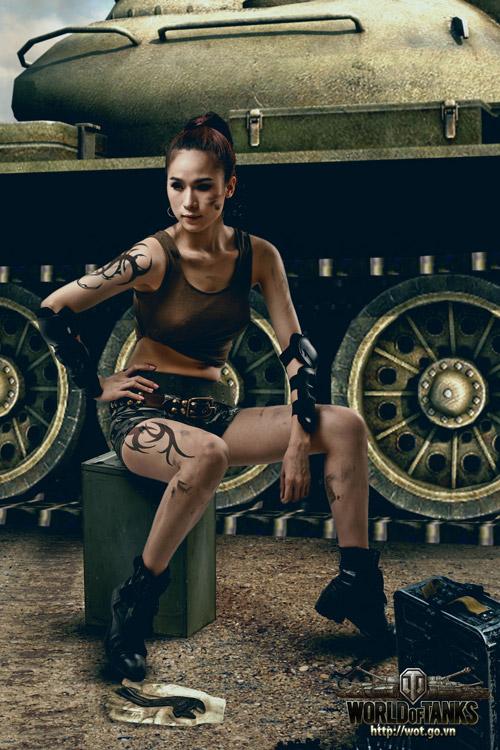 Siêu mẫu Thái Hà gợi cảm trong bộ ảnh World of Tanks 4