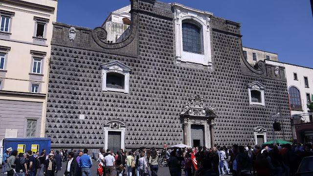Church of Gesù Nuovo, Piazza del Gesù Nuovo, Napoli, Italy