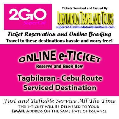 2Go SuperCat Tagbilaran-Cebu Ticket Reservation and Online Booking