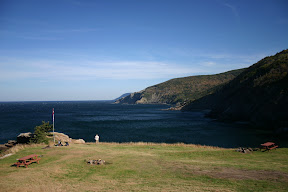 Our picnic site at Meat Cove
