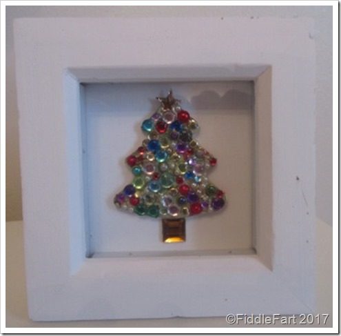 Jewelled Christmas Tree in Box Frame Christmas Decoration,1