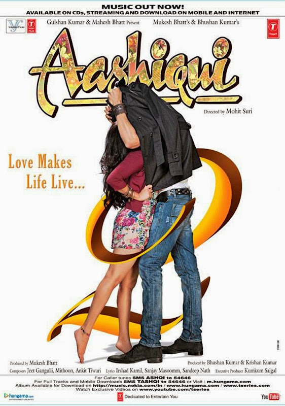 Poster Of Hindi Movie Aashiqui 2 (2013) Free Download Full New Hindi Movie Watch Online At Alldownloads4u.Com