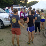Peace Corps volunteers before the race