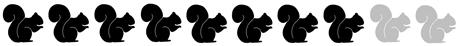 8 squirrels